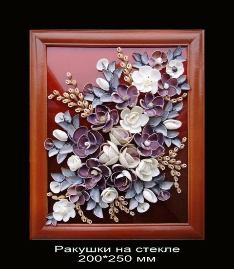 Картины панно природа из ракушек своими руками мастер класс фото
