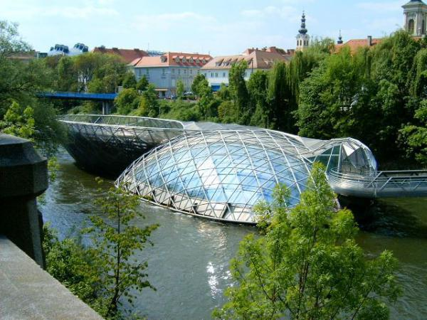 Aiola Island Bridge граце австрия (600x450, 61Kb)