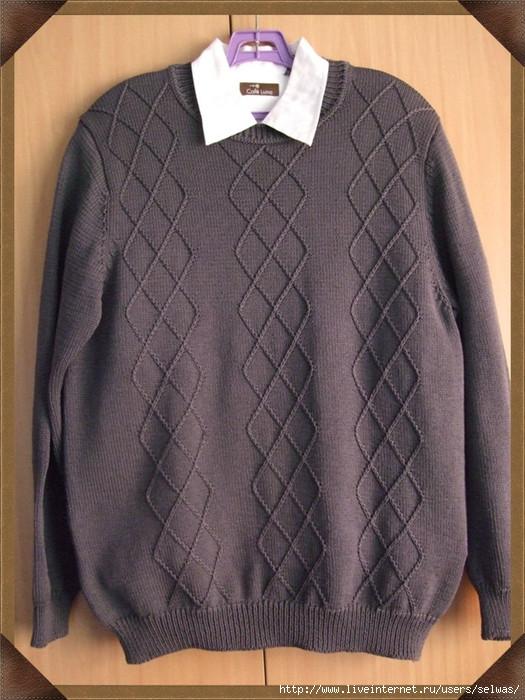 """针织:男式毛衣""""菱格"""" - maomao - 我随心动"""