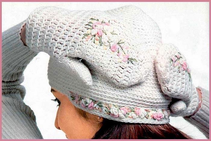 Вышивка на шапку своими руками