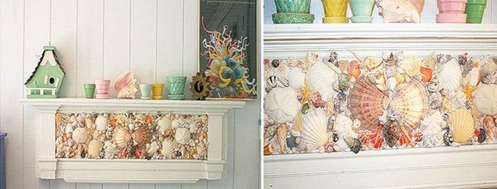 10 идей декора из ракушек в интерьере 75 фото примеров