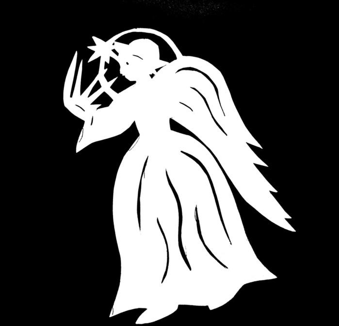 Ангелы, трафареты из бумаги. Обсуждение на LiveInternet - Российский Сервис Онлайн-Дневников
