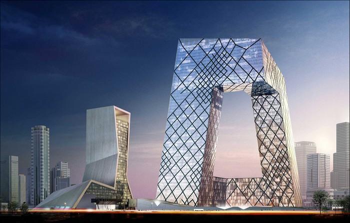 Лучшие офисы мира - Штаб-квартира центрального телеканала КНР 3 (700x447, 99Kb)
