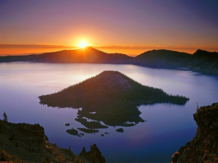 озеро крейтер Crater Lake фото 4 (700x525, 207Kb)