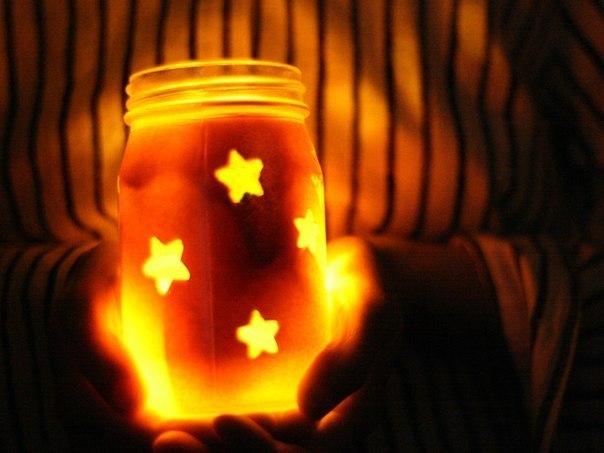 Ночник звезда в банке своими руками 76