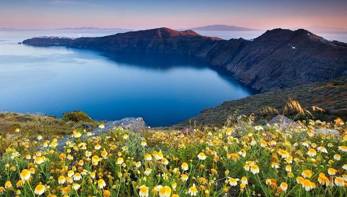 Остров Санторини, Греция. (700x396, 126Kb)