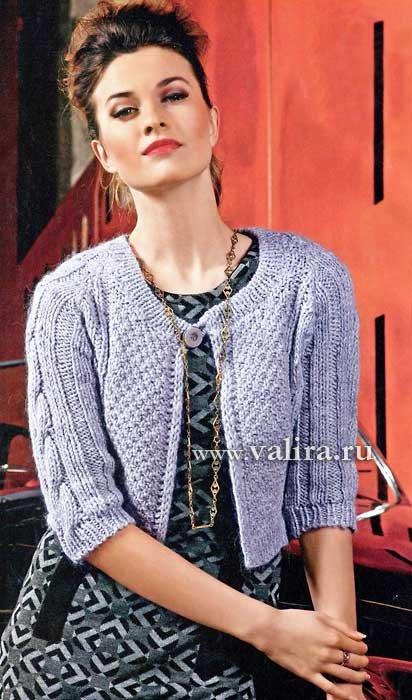 Размер: 42Для вязания жакета вам потребуется: 300 г светло-серой пряжи Alpaca Lux (33% альпака, 32% мериносовой...