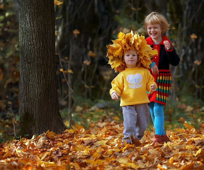 Метки дети фото осень стихи