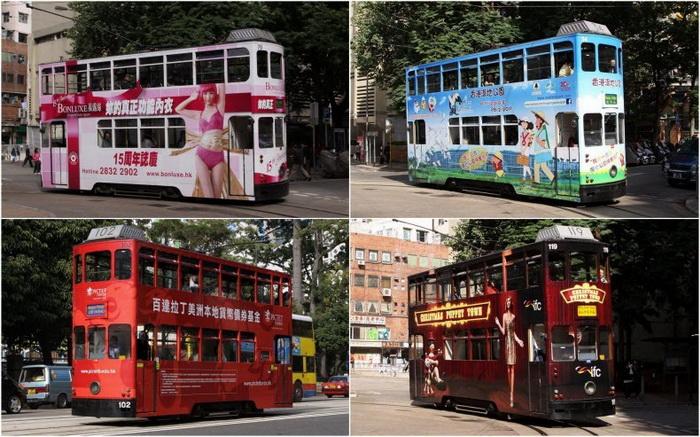 двухэтажные трамваи в Гонконге фото (700x437, 169Kb)
