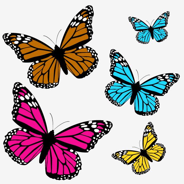 Декор бабочками на стене своими руками трафареты