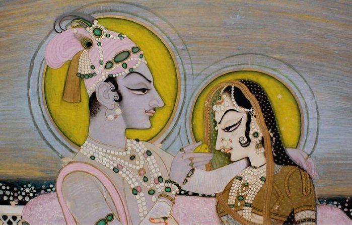 2_Attributed_to_Nihal_Chand._Savant_Singh_and_Bani_Thani_as_Krishna_and_Radha_(detail),_Kishangarh,_ca._1760._Madison_Avenue_gallery (700x447, 73Kb)