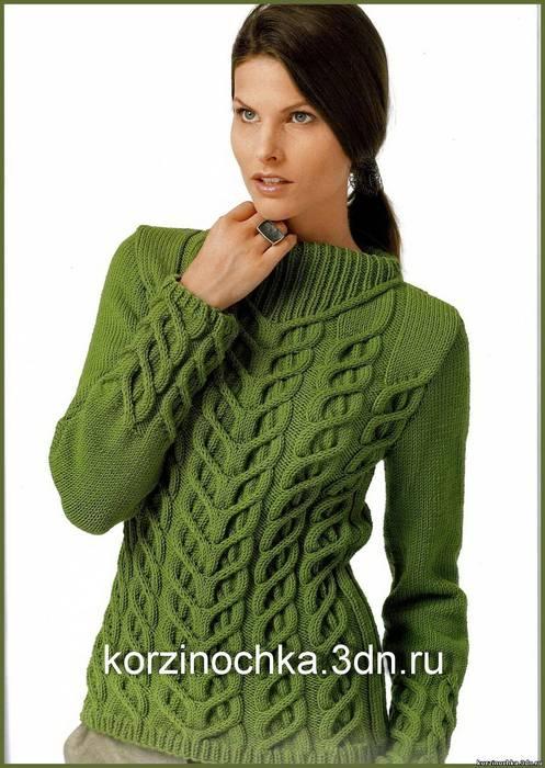 Вязаный женский свитер с