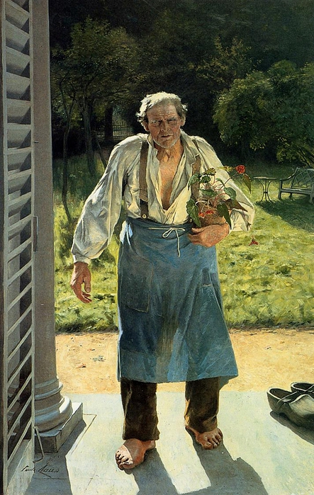 Emile_Claus_-_The_Old_Gardener (443x700, 295Kb)
