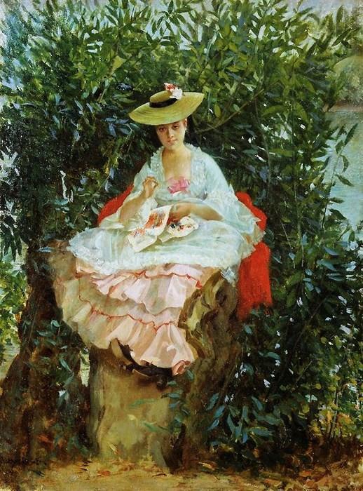 Julien_Gabriel_Guay_(French_artist,_1848-__)_Sewing (518x700, 152Kb)