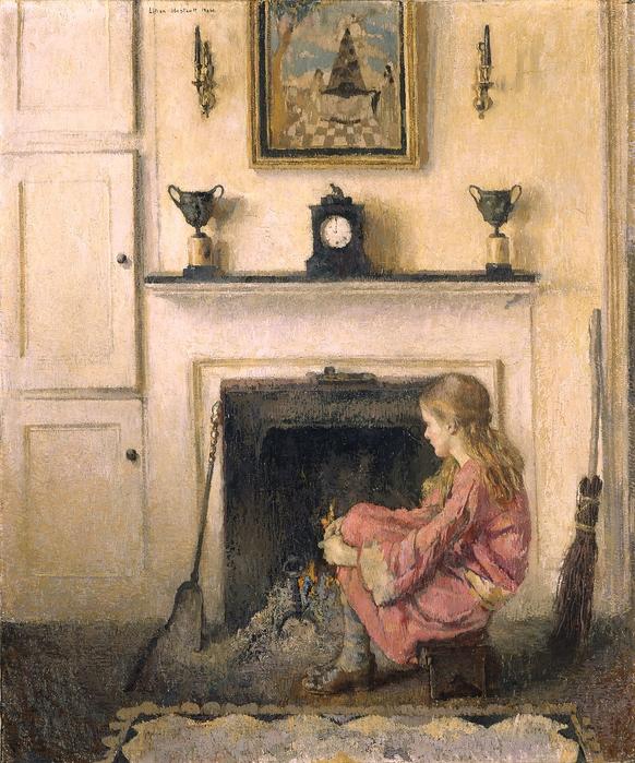 Lilian Westcott Hale (1880-1963) Alice-Sit-by-the-Fire, 64_21_1 (582x700, 388Kb)