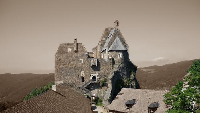 Развалины замка Аггштайн у вод Дуная 91615