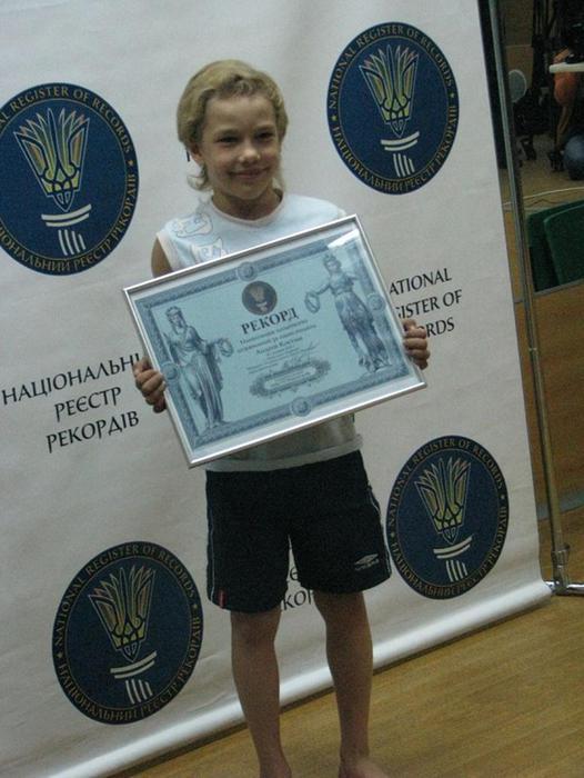 Семилетний киевлянин установил рекорд
