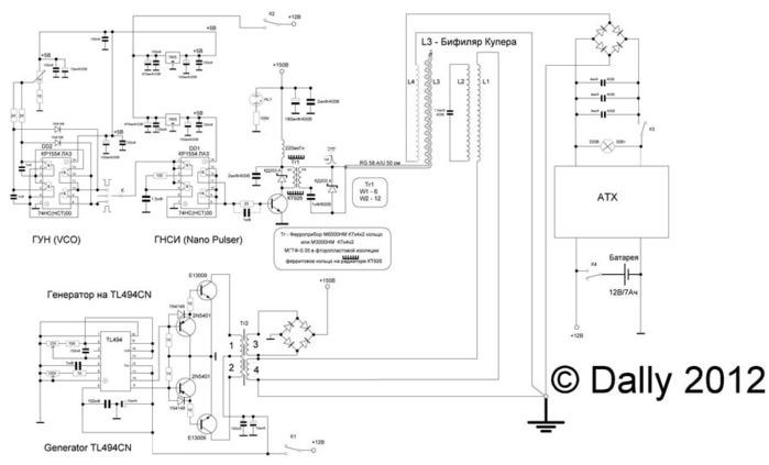 схемы генераторов на тл494