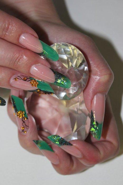 Ногти нарощенные фото 2014 зима