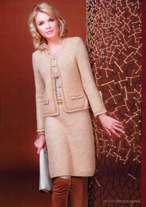 костюм женский спицами