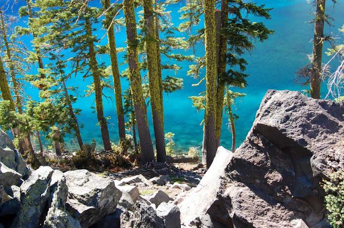 Кратерное озеро, Орегон, США (695x462, 188Kb)