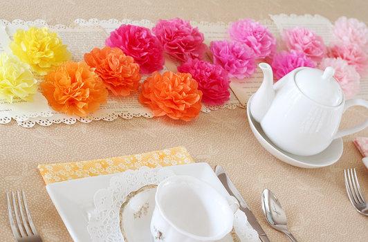 Как сделать украшение из бумажной салфетки на стол