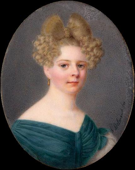 Эвелина Ганская (портрет работы Феликса Дельмонта)