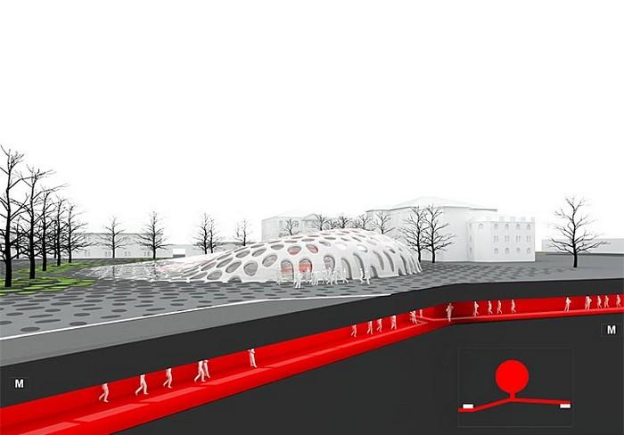 Современная архитектура Харькова - проект площади Конституции 3 (700x488, 53Kb)