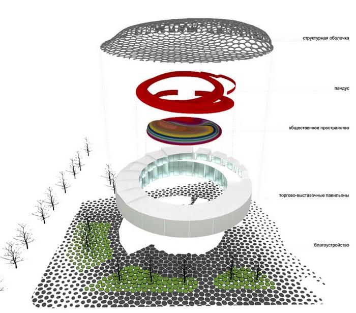 Современная архитектура Харькова - проект площади Конституции 5 (700x615, 98Kb)