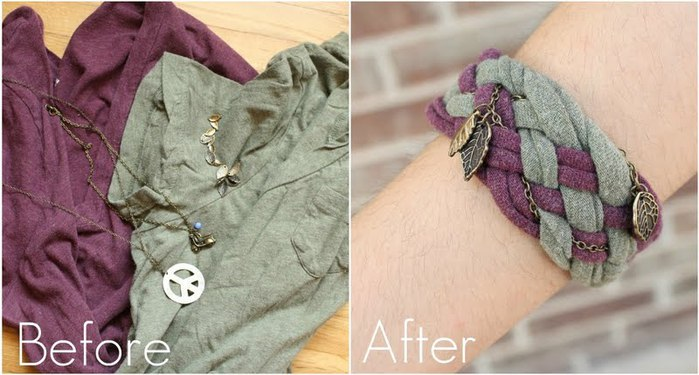 Project Restyle - Recycled T-shirt and Necklace (700x375, 66Kb)