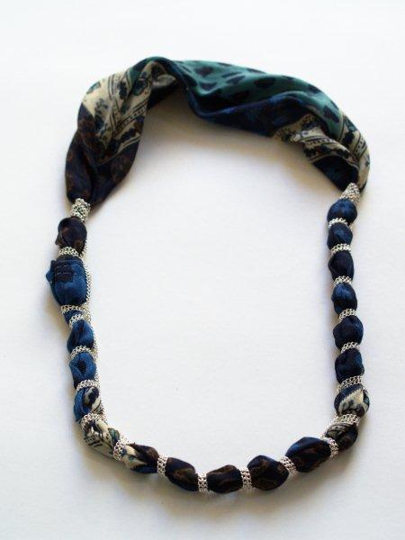 旧物改造:丝巾变项链  (大师班) - maomao - 我随心动