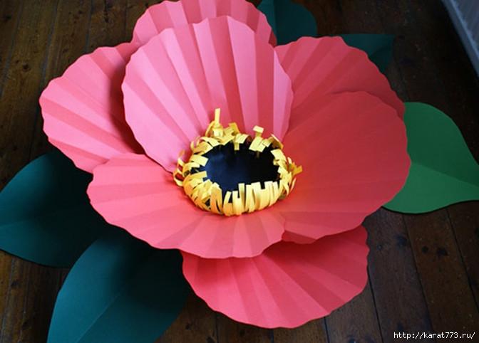 Фото в цветке из бумаги