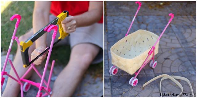 Как сделать для куклы коляску
