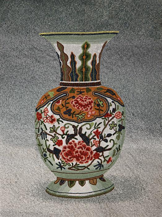 китайская ваза с росписью пионами (523x700, 598Kb) .