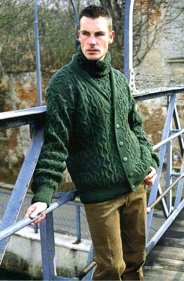 схемы вязания мужских