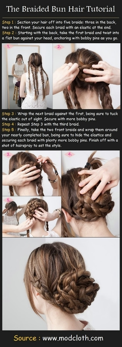 The Braided Bun Hair Tutorial (245x700, 137Kb)