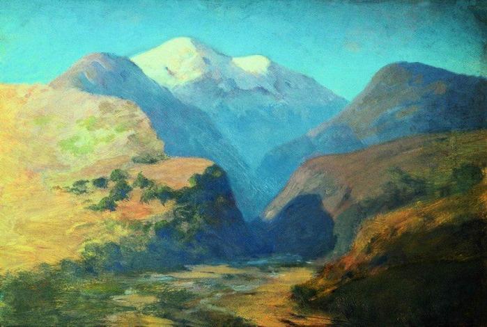 Снежные вершины гор. Кавказ. 1890-1895 (700x470, 122Kb)