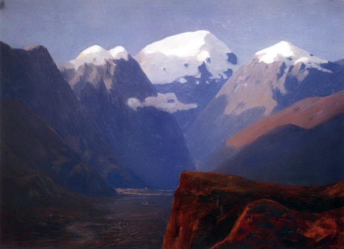 Снежные вершины. Кавказ. 1890-1895 (700x505, 105Kb)