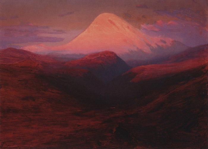 Эльбрус вечером1. 1898-1908 (700x503, 88Kb)