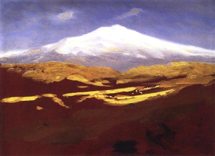 Эльбрус днем2. 1898-1908 (700x507, 139Kb)