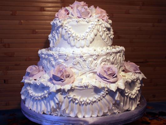 Торт белковый свадебный