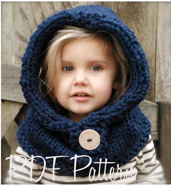 Добавить. Crochet PATTERN-The Baylie Bear Cowl (3/6 months, 6/12