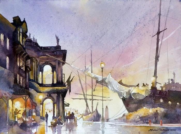 Картины акварелью Михаила Орловски 4 (700x519, 109Kb)
