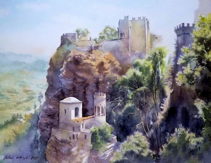 Картины акварелью Михаила Орловски 10 (700x542, 104Kb)