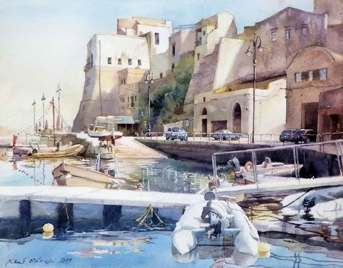 Картины акварелью Михаила Орловски 12 (700x546, 113Kb)