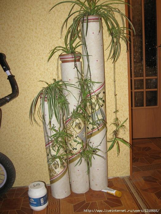 Напольная ваза из трубы своими руками