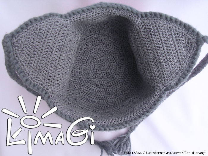 Вшиваем в шапку вязанный