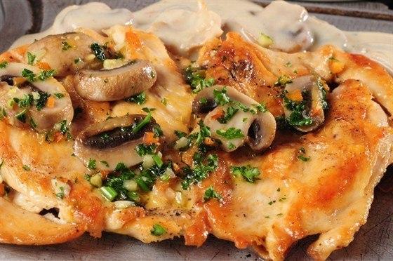 куриное филе с грибами (560x372, 69Kb)