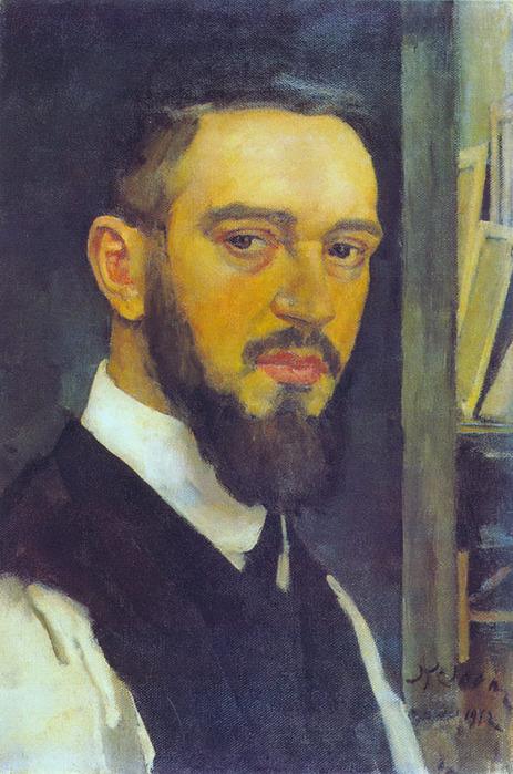 1912 Автопортрет Константина Юона. Х., м. (463x700, 140Kb)