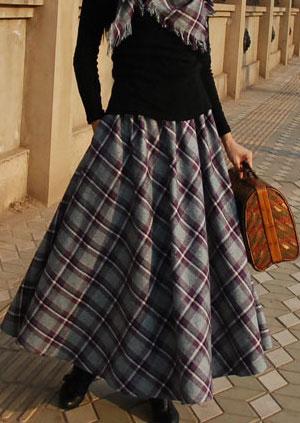 Как сшить длинную юбку из плотной ткани в пол своими руками фото